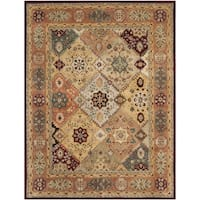 Safavieh Handmade Persian Legend Diamonds Multi/ Rust N.Z. Wool Rug (7'6 x 9'6)