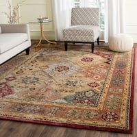"Safavieh Handmade Persian Legend Diamonds Multi/ Rust N.Z. Wool Rug - 7'6"" x 9'6"""