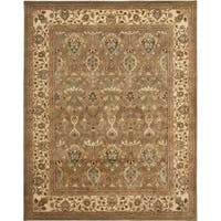 Safavieh Handmade Mahal Green/ Beige New Zealand Wool Rug (9'6 x 13'6) - 9'6 x 13'6