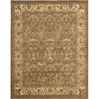 Safavieh Handmade Mahal Green/ Beige New Zealand Wool Rug - 9'6 x 13'6