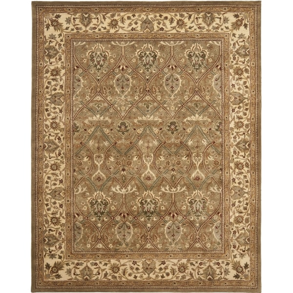 Safavieh Handmade Mahal Green/ Beige New Zealand Wool Rug (9'6 x 13'6)