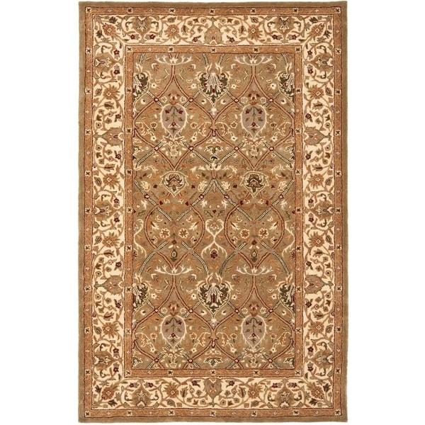 "Safavieh Handmade Mahal Green/ Beige New Zealand Wool Rug - 9'6"" x 13'6"""