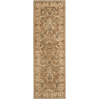 Safavieh Handmade Mahal Green/ Beige New Zealand Wool Rug (2'6 x 14')