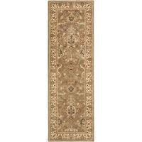 Safavieh Handmade Mahal Green/ Beige New Zealand Wool Rug - 2'6 x 14'