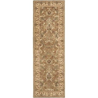 Safavieh Handmade Mahal Green/ Beige New Zealand Wool Rug (2'6 x 16')