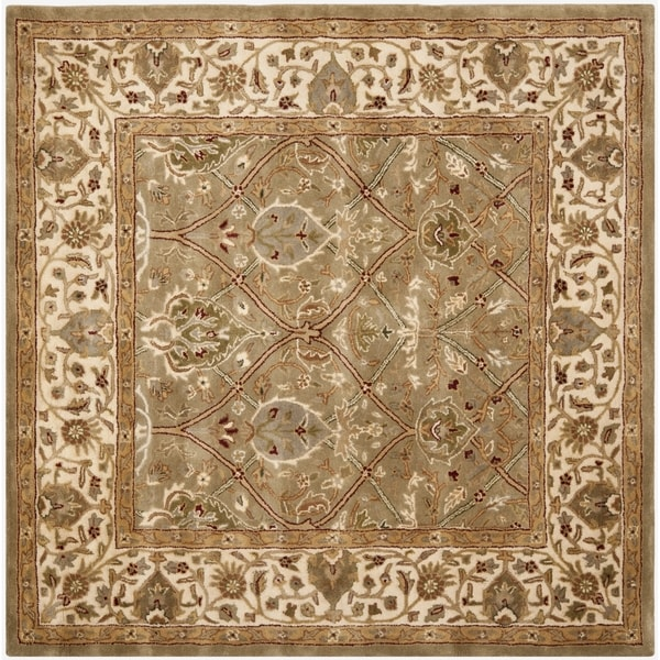 Safavieh Handmade Mahal Green/ Beige New Zealand Wool Rug (8' Square)
