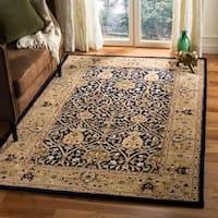 Safavieh Handmade Mahal Blue/ Gold New Zealand Wool Rug - 5' x 8'