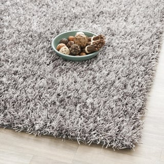 Safavieh Handmade New Orleans Shag Grey Textured Polyester Square Rug (5' Square)