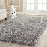 Safavieh Handmade New Orleans Shag Grey Textured Large Area Rug - 8'6 x 12'