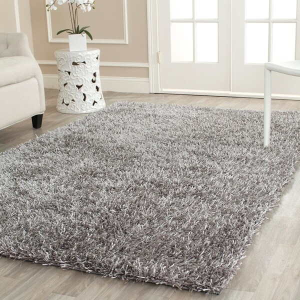 Shop Safavieh Handmade New Orleans Shag Grey Textured Large Area Rug
