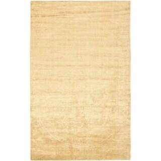 Safavieh Handmade Mirage Modern Tonal Gold Viscose Rug (4' x 6')