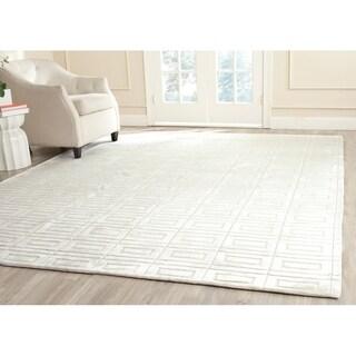 Safavieh Handmade Mirage Modern Pearl White Viscose Rug (8' x 10')