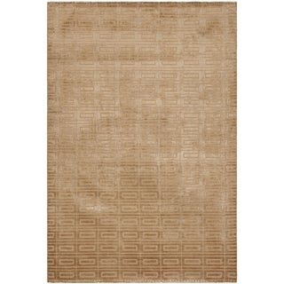 Safavieh Handmade Mirage Modern Camel Beige Viscose Rug (9' x 12')