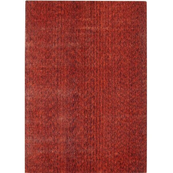 Safavieh Handmade Mirage Modern Rust Viscose Rug - 8' x 10'