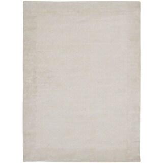 Safavieh Handmade Mirage Modern Border Pearl White Viscose Rug (9' x 12')