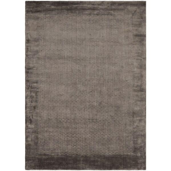 Safavieh Handmade Mirage Modern Border Grey Viscose Rug (6' x 9') - 6' x 9'