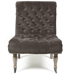Duchess Tufted Grey Accent Chair by Kosas Home