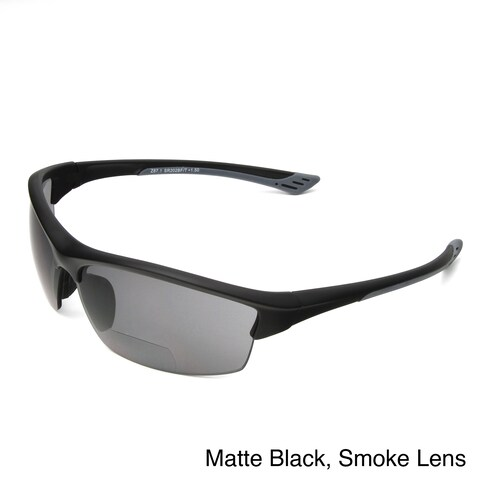 Hot Optix Men's Sport Wrap Bi-focal Reading Sunglasses