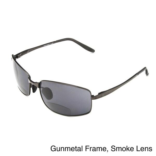 Hot Optix Men's Metal Wrap Bi-focal Reading Sunglasses