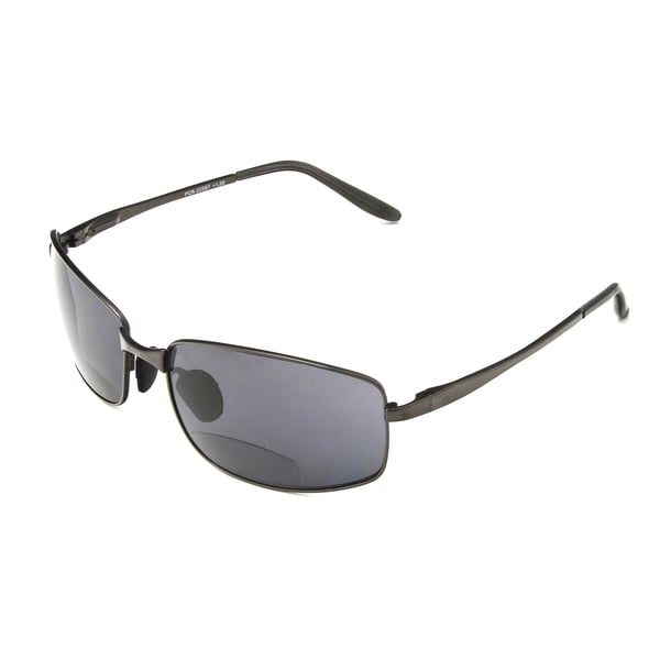 0c96d2567dca Shop Hot Optix Men s Metal Wrap Bi-focal Reading Sunglasses - Free ...