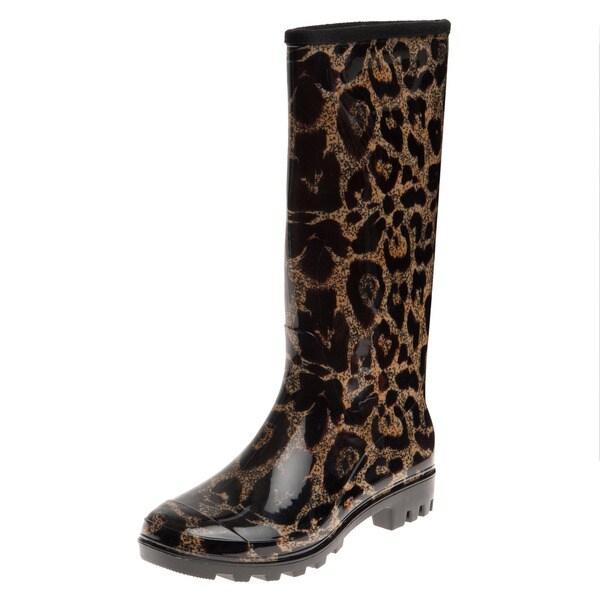 Shop Henry Ferrera Women S Oversized Leopard Printed Rain