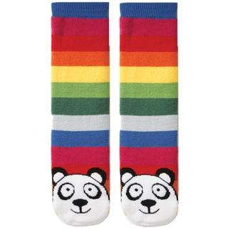 Tubular Novelty Socks-Panda -Multi Stripe