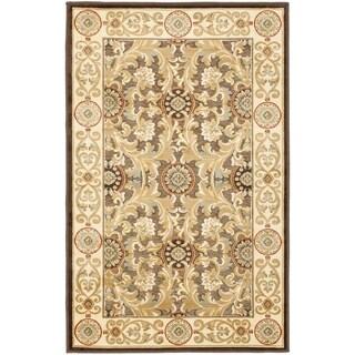 Safavieh Paradise Eden Tranquil Brown/ Ivory Viscose Rug (4' x 5' 7)