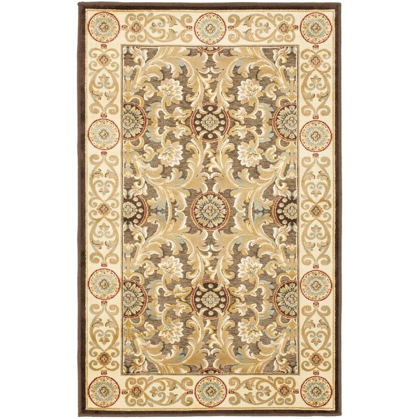 Safavieh Paradise Eden Tranquil Brown/ Ivory Viscose Rug - 8' x 11'2