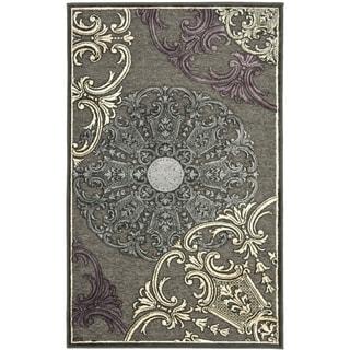 Safavieh Paradise Charcoal Grey Viscose Rug (2' 7 x 4')