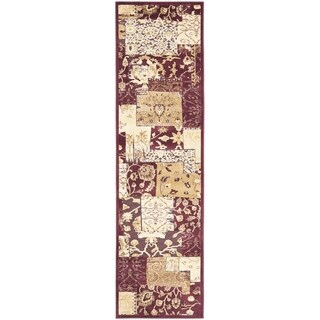 Safavieh Paradise Red Floral Viscose Rug (2' 2 x 8')