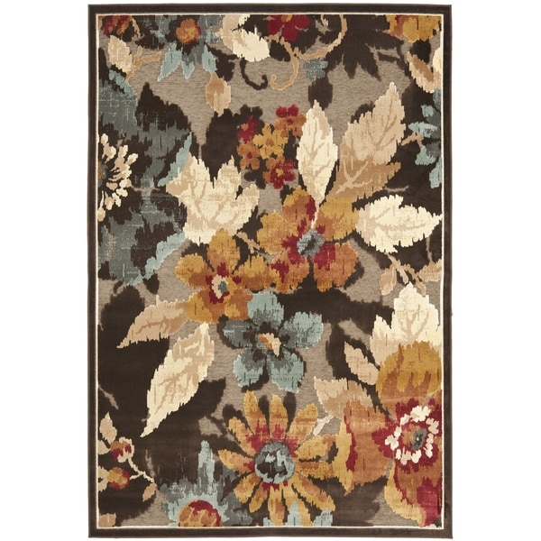 Safavieh Paradise Dark Brown Viscose Rug (8' x 11' 2)