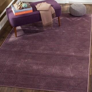 Safavieh Paradise Modern Purple/ Multicolored Geometric Viscose Rug (8' x 11' 2)