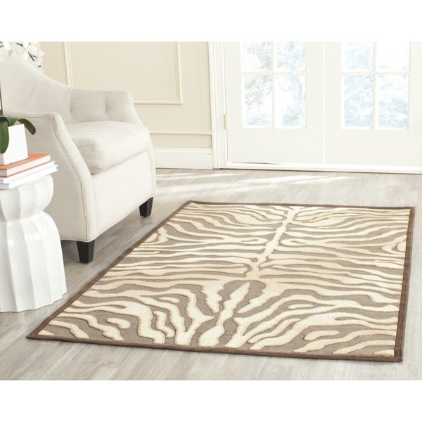 Safavieh Paradise Tiger Mocha Brown Viscose Rug (8' x 11' 2)