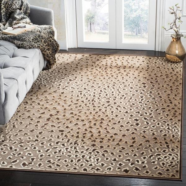 Shop Safavieh Paradise Leopard Light Brown Viscose Rug 4