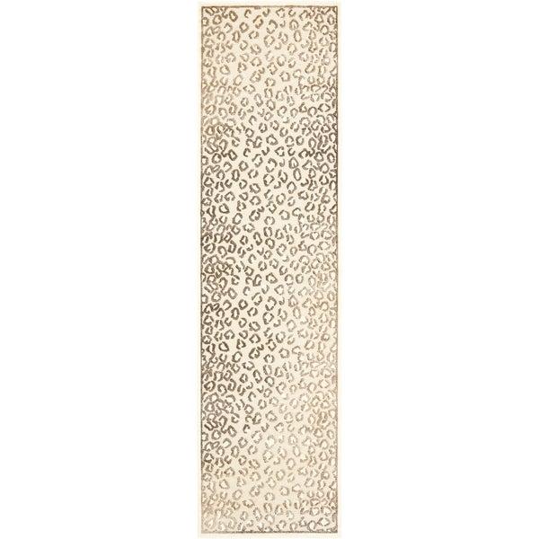 Safavieh Paradise Leopard Cream Viscose Rug (2' 2 x 8')