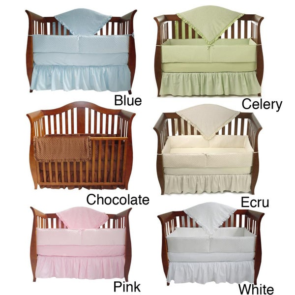 American Baby Company Heavenly Soft Minky Dot 4-piece Crib Set