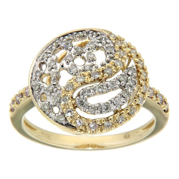 D'sire 10k Gold 2/5ct TDW Pink and White Diamond Ring (H-I, SI2)