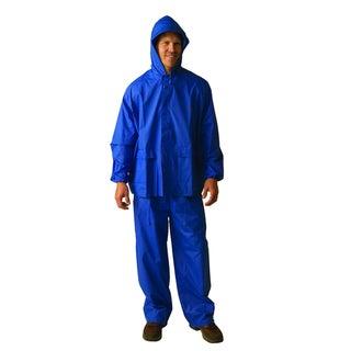 Texsport Laminated Large Blue Nylon Rain Suit