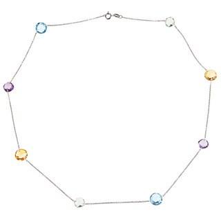 La Preciosa Sterling Silver Multi-gemstone Necklace