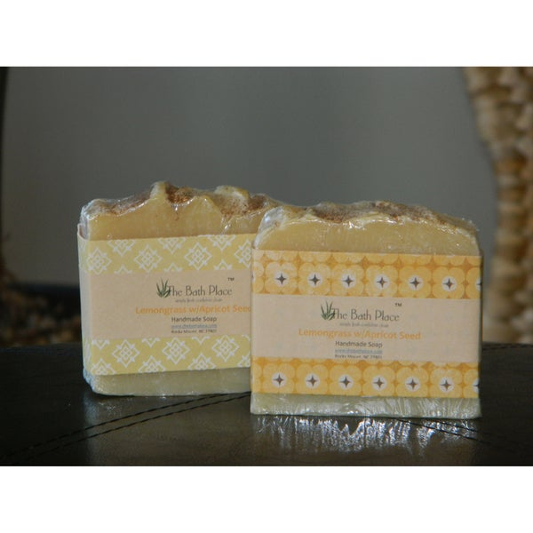 The Bath Place Lemongrass w/ Apricot Seed Handcrafted Essential Oil Soap