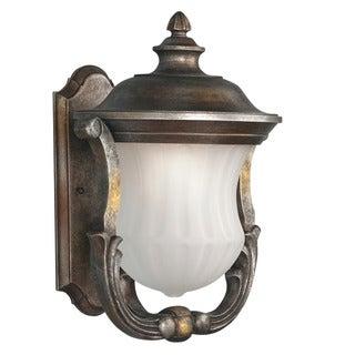 Transitional 1-light Bronze Outdoor Wall Light