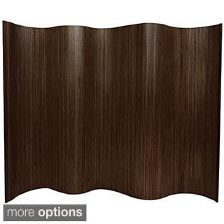 Handmade Bamboo Wave 6-foot Screen (China)