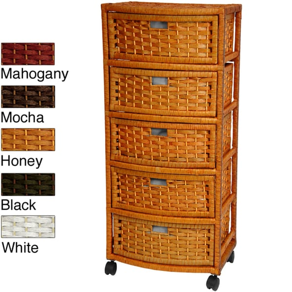 Natural Fiber Five-Drawer Storage Chest (China)