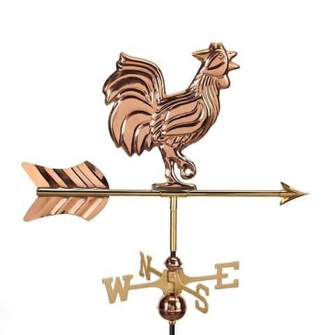 Rooster Garden Weathervane with Garden Pole by Good Directions