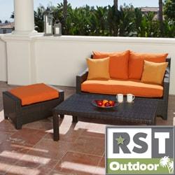 RST Outdoor 'Tikka' Patio Love Seat and Ottoman Set