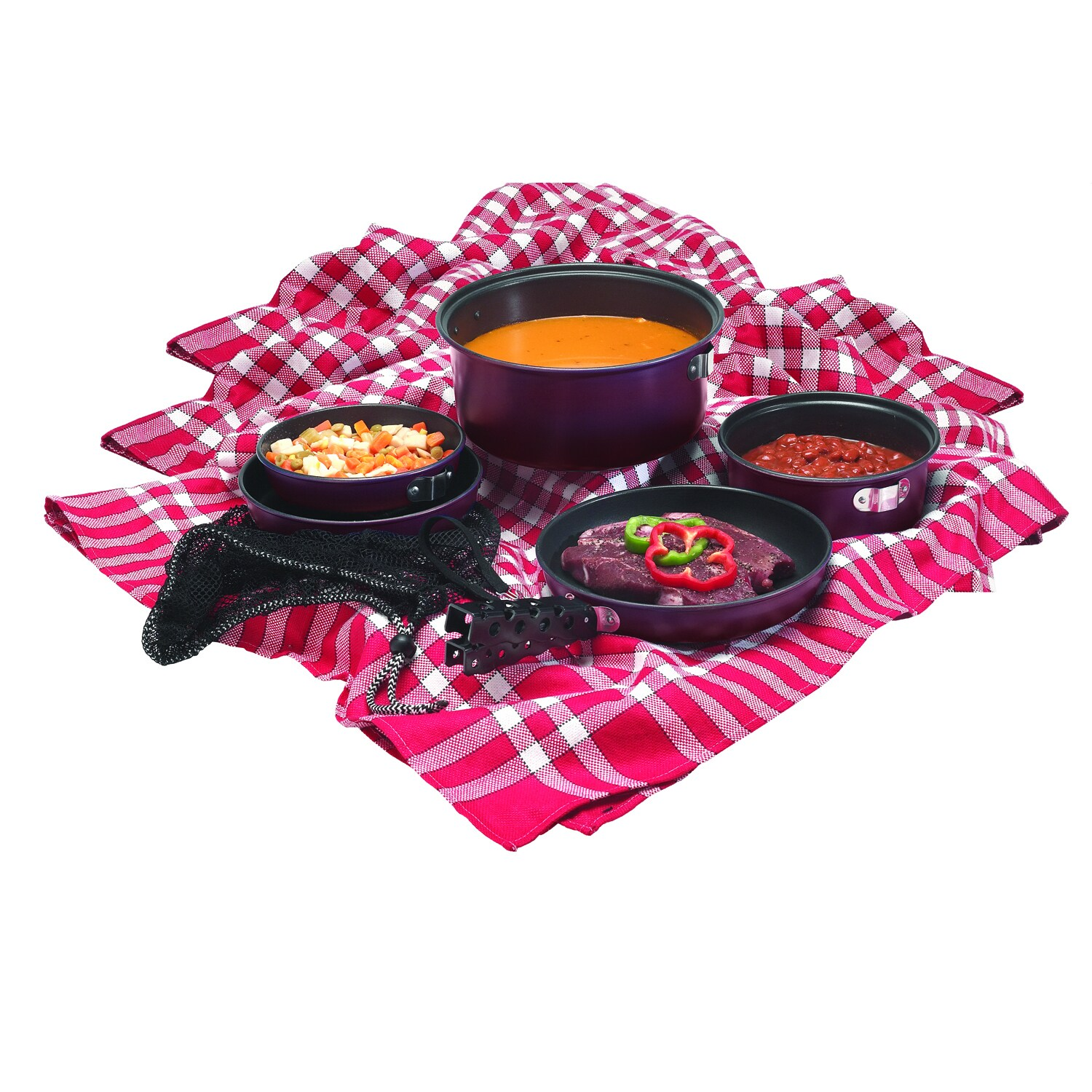 Texsport 13446 7 PC kangourou Cook Set