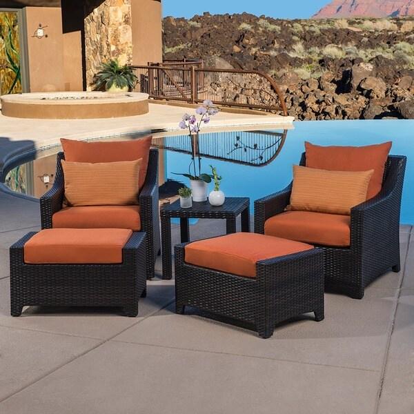 Superb RST Outdoor U0026#x27;Tikkau0026#x27; 5 Piece Patio Club Chairs