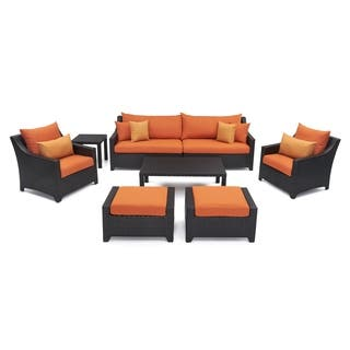 Rst Outdoor Tikka 8 Piece Sofa Club Chair And Ottomans Patio Furniture