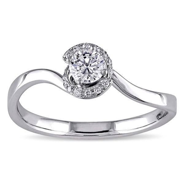 Miadora Signature Collection 14k White Gold 1/3ct TDW Diamond Ring (G-H, SI1-SI2)