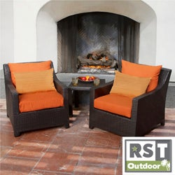 RST Outdoor U0027Tikkau0027 Club Chair And Side Table Patio Furniture Set